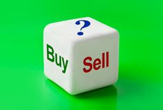 Dice with words Buy and Sell. Concept background royalty free stock photography