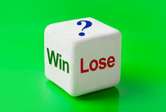Dice with words Win and Lose. Concept background Royalty Free Stock Photo