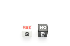 Dice yes,no Royalty Free Stock Photos