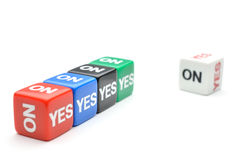 Dice yes,no stock photography