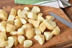 Diced желтые картошки Стоковое Изображение RF