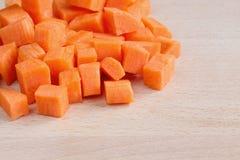 Diced сырцовые моркови Стоковое Изображение