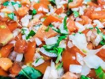 Diced томат с луком и базиликом Стоковая Фотография RF