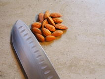 Diced Almonds Stock Photo