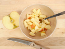 Diced Apples Royalty Free Stock Image