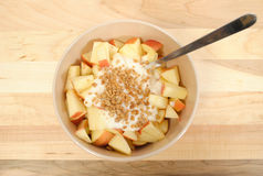 Diced Apples with Yogurt and Granola Stock Image