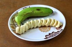 Diced banana Royalty Free Stock Photos
