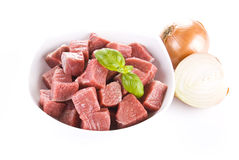 Diced beef and onion Royalty Free Stock Photography