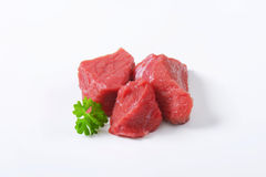 Diced beef Stock Photography