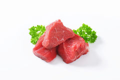 Diced beef Stock Images
