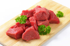 Diced beef Royalty Free Stock Photos