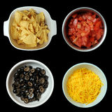 Diced Black Olives in Bowl Stock Image
