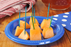 Diced cantaloupe Stock Images