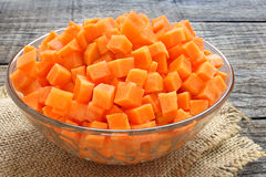 Diced carrots Stock Images