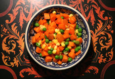 Diced carrots, peas and sweetcorn Royalty Free Stock Image