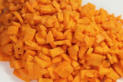 Diced carrots Royalty Free Stock Photography