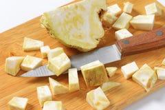 Diced celeriac Stock Photo