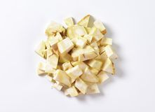 Diced celeriac Royalty Free Stock Images