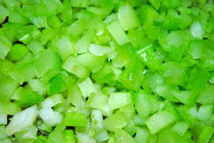 Diced celery ingredient stock photos