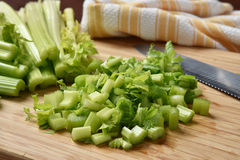 Diced celery Stock Image