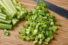 Diced celery Stock Photo