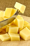 Diced  cheese Royalty Free Stock Image