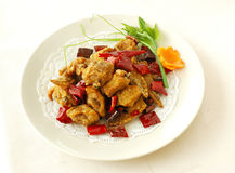Diced chicken with garlic. Chinese cuisine. yumcha, chinese food Stock Photography