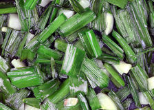 Diced Chives Garlic up Close Stock Image