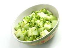 Diced cucumber with parsley Royalty Free Stock Image