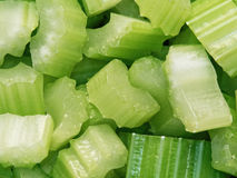 Diced cut celery food background Stock Photo