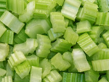 Diced cut celery food background Stock Photography