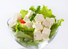Diced feta with fresh vegetables Stock Image