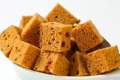 Diced gingerbread cake Stock Image