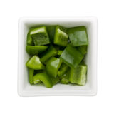 Diced green bell pepper Royalty Free Stock Photos