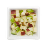Diced green and red apple Royalty Free Stock Image