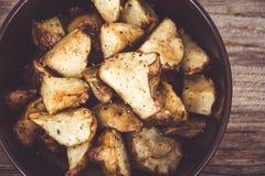 Diced homemade roasted jerusalem artichoke sunchoke dish Royalty Free Stock Image