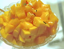 Diced of mangoes Stock Photo