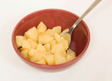Diced Pears Stock Photography