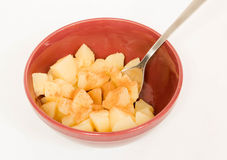 Diced Pears with Cinnamon Stock Photography