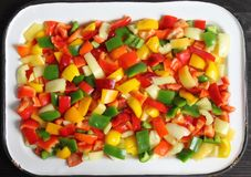 Diced peppers Royalty Free Stock Image