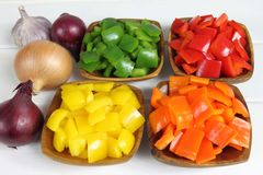 Diced peppers Stock Image