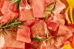 Diced pork stock photo