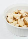 Diced Potatoes Royalty Free Stock Photography