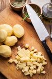 Diced potatoes. Stock Image