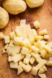Diced potatoes. Stock Photos