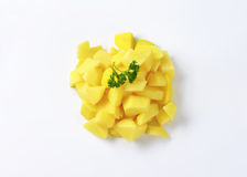 Diced potatoes Stock Photo