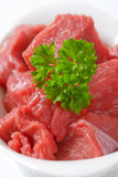 Diced raw beef Royalty Free Stock Image