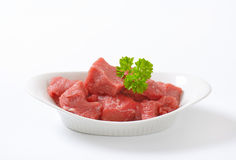 Diced raw beef Royalty Free Stock Photography