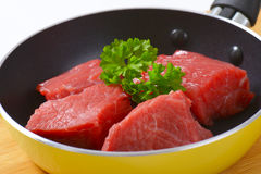 Diced raw beef Royalty Free Stock Photo