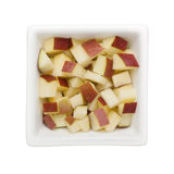 Diced red apple Stock Image